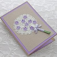 Käsitöökaart lillebuketiga